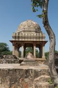 Archaeological building at Mehrauli Park, New Delhi - stock photo