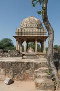 Archaeological building at Mehrauli Park, New Delhi Stock Photos