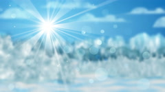 Wintry landscape out of focus seamless loop 4k (4096x2304) Stock Footage