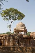 Archaeological building, Mehrauli Archaeological Park, New Delhi - stock photo