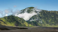 4k Timelapse of clouds at Bromo Tengger Semeru National Park, Indonesia Stock Footage