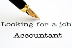 Looking for a job Accountant Stock Photos