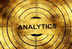 Analytics grunge target - stock photo