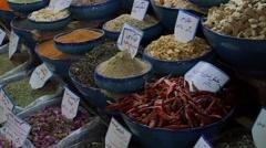 Shiraz Vakil Bazaar spices Stock Footage