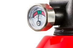 Stock Photo of Manometer of a Fire Extinguisher
