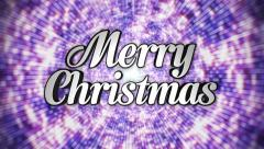 Stock Video Footage of Merry Christmas Text in Disco Dance Tunnel, In / Out, Loop, with Alpha Channel,