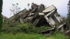 Ruins in wenchuan National Earthquake Memorial Museum Stock Footage