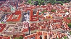Stock Video Footage of Area Lesser Town of Prague, near the church Saint Vitus, Ventseslaus and Adal