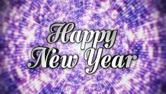 Happy New Year,  Text in Disco Dance Tunnel, In / Out, Loop, with Alpha Channel, Stock Footage