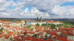 Area Lesser Town of Prague, near the church Saint Vitus, Ventseslaus and Adal Stock Footage