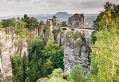 Bastei Bridge - stock photo