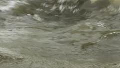 Gushing torrent of water in the River Stock Footage