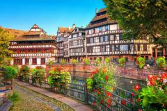 Strasbourg, La Petite France district, France Stock Photos
