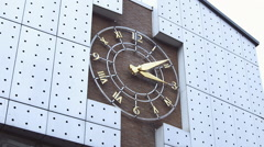 Stock Video Footage of slow motion hands clock turning