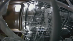 Interior of dishwasher machine Stock Footage