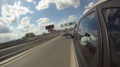 Fast time lapse driving through the city. - stock footage