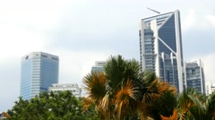 4k Skyline Skyscrapers city busy metropolis tall buildings modern architecture Stock Footage