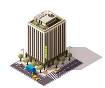 Vector isometric building Stock Illustration