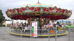 Merry Go Round At Carnival 02 Stock Footage