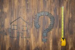 Housing measurement problem, repair by diy - stock photo