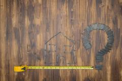 Housing measurement problem, repair by diy - stock photo