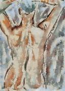 Nude figure - stock illustration