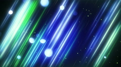 blurred blue and green diagonal lines and bokeh lights loop 4k (4096x2304) - stock footage