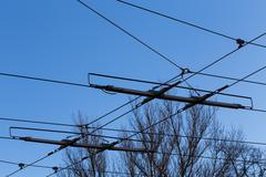 Tramway power line - stock photo