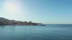 Italian coast in a sunny day Stock Footage