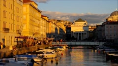 Trieste in a timelapse Stock Footage