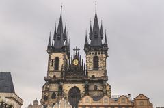 Prague astronomical clock - stock photo