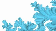 Blue on white wintry tracery abstract background - stock illustration
