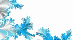 Abstract wintry tracery fractal background - stock illustration