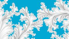 White on blue abstract wintry tracery - stock illustration