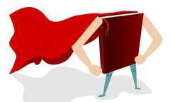Book super hero - stock illustration