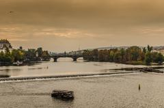 Look from Charles bridge - stock photo