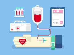 Blood donation concept - stock illustration