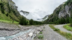 Time Lapse Mountain Valley With A River Grossglockner Stock Footage