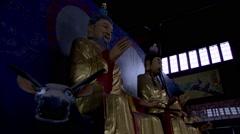 Taoist temple gods - stock footage