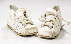 Kids Shoes Untied - stock photo
