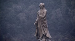 Lao tze,The statue Stock Footage