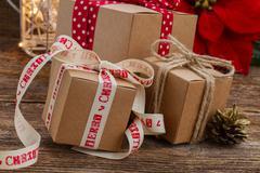Stock Photo of Handmade gift boxes