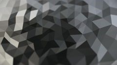 Stock Video Footage of Abstract crystal Gray colors Glossy wave Rotation animation
