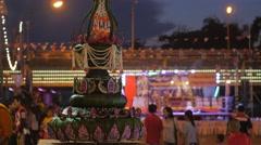 Candle at Ok Phansa Festival,Ubon Ratchathani,Thailand Stock Footage