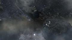 Kuiper belt asteroids Stock Footage