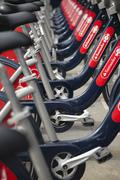 Rental Bicycles in London - stock photo