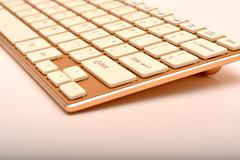 Modern keyboard design closeup view - stock photo