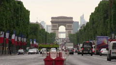 Arc de triomphe in Paris Stock Footage