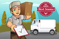 Delivery Man Stock Illustration