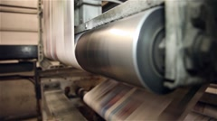 Newspaper being printed in a printing press Arkistovideo